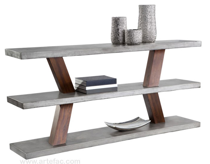 Dining Accent Tables Dining Tables Concrete Edge Dining - Cement look dining table