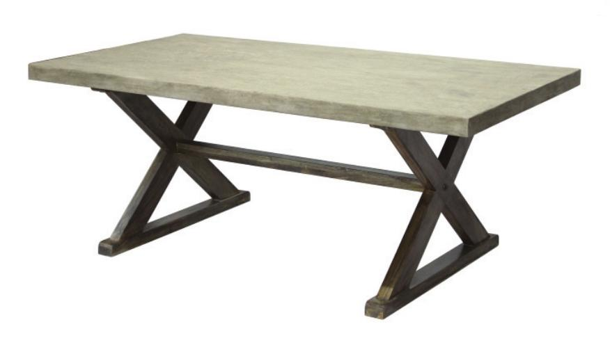 concrete top dining table. Dining / Accent Tables :: RCD-1225 Concrete Table - ARTeFAC USA Top