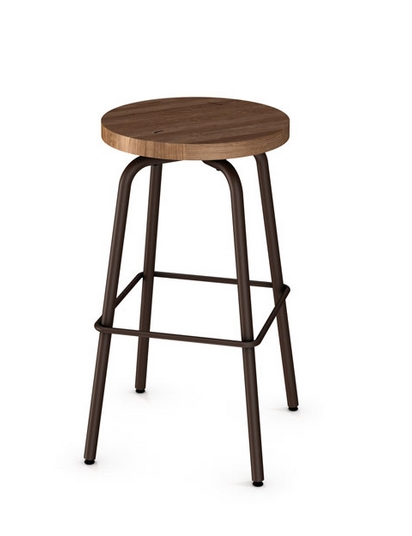 Custom Made in Canada AC 42460 Backless Swivel Stool w  : AC 42463BacklessSwivelStoolwWoodSeat from artefac.com size 412 x 536 jpeg 47kB
