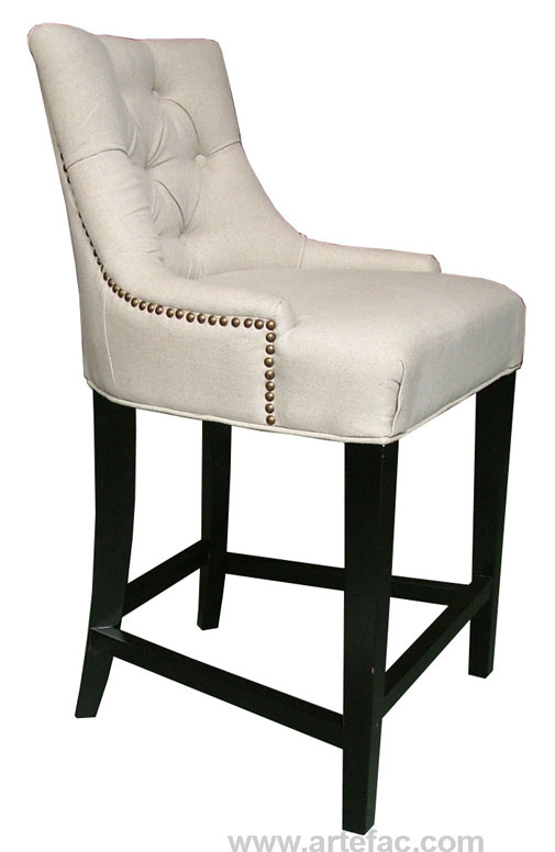 Rp 2264 Fabric Bar Counter Stool In Linen