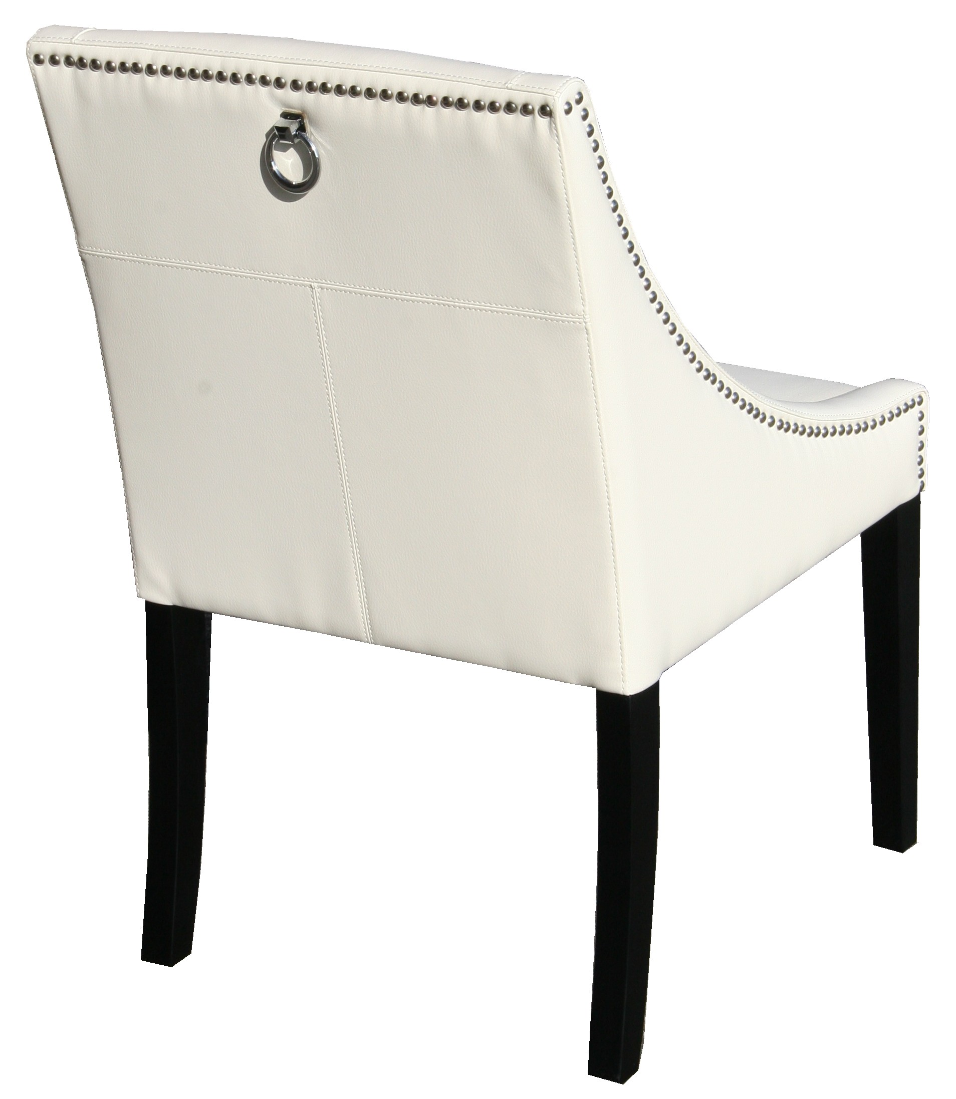 Quot Parsons Ivory Leather Dinning Chair With Silver Nail Head Quot