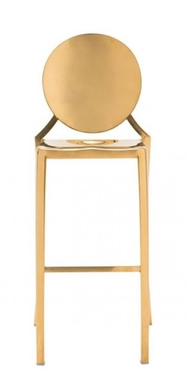 Modern Furniture Stools Rz 100554 Round Back In Gold