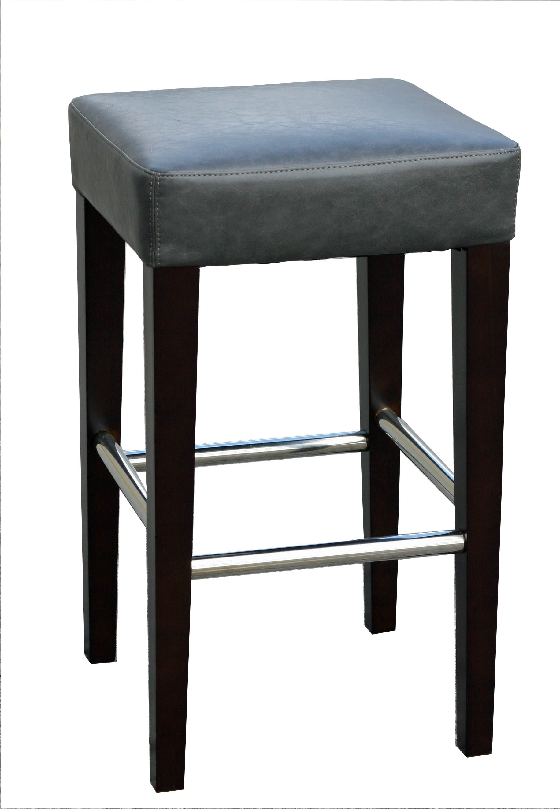 Clearance Backless Leather Counter Stool Brown