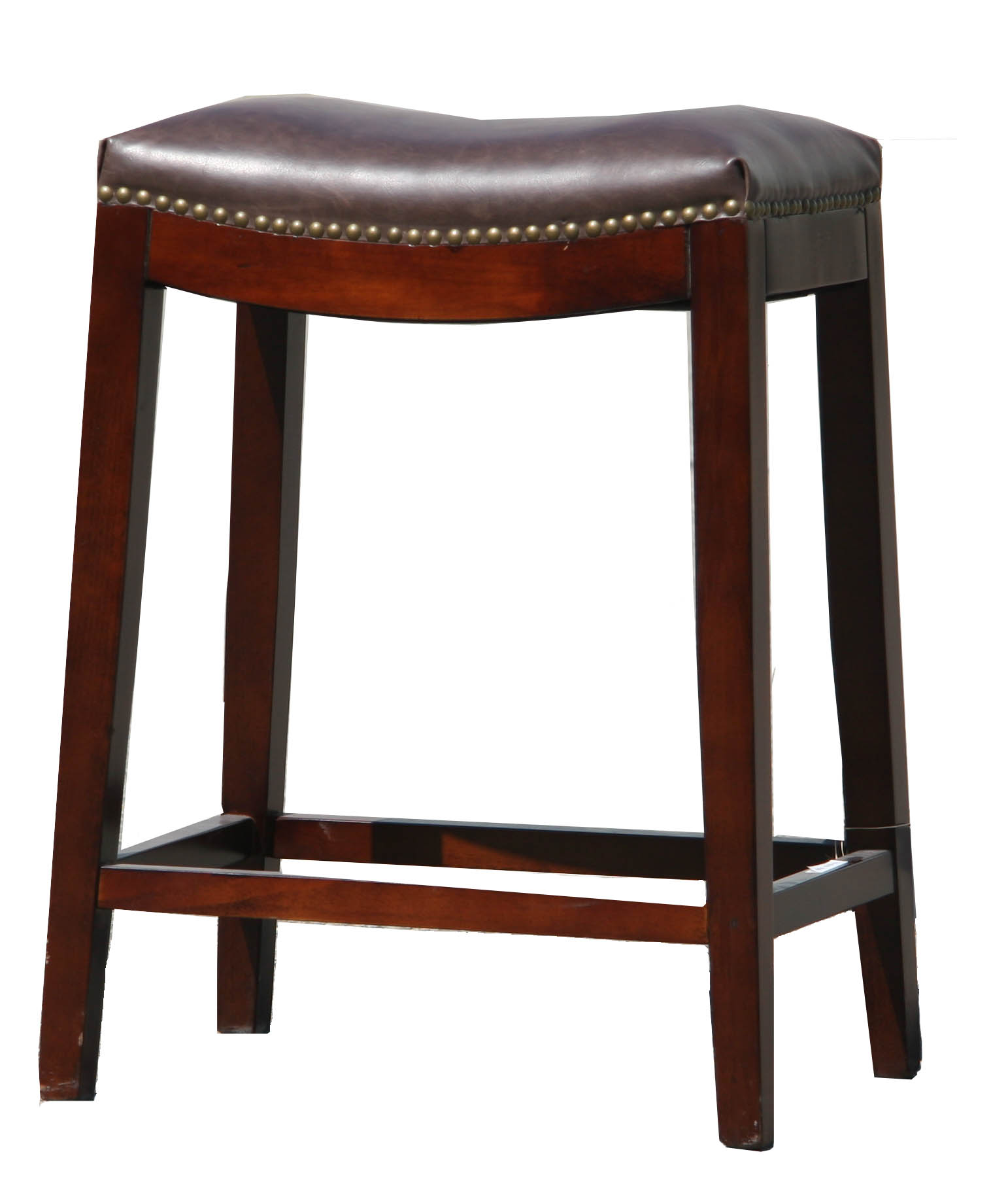 R 4687 Backless Leather Bar Counter Stool
