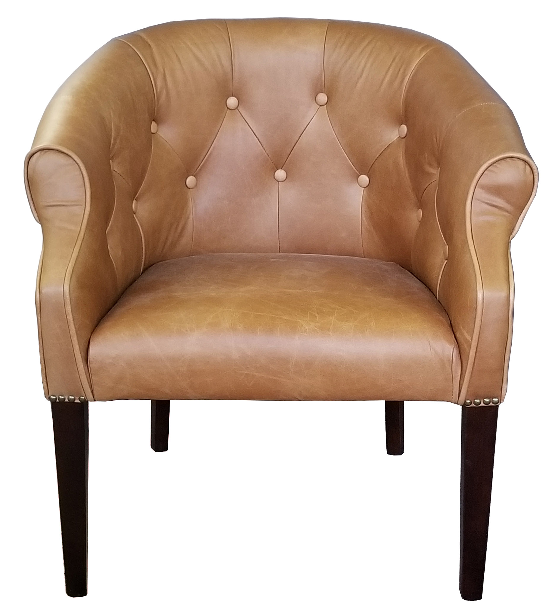 Leather Arm Chairs, Club Chairs & Fabric Chairs :: Leather Tub Chair ...