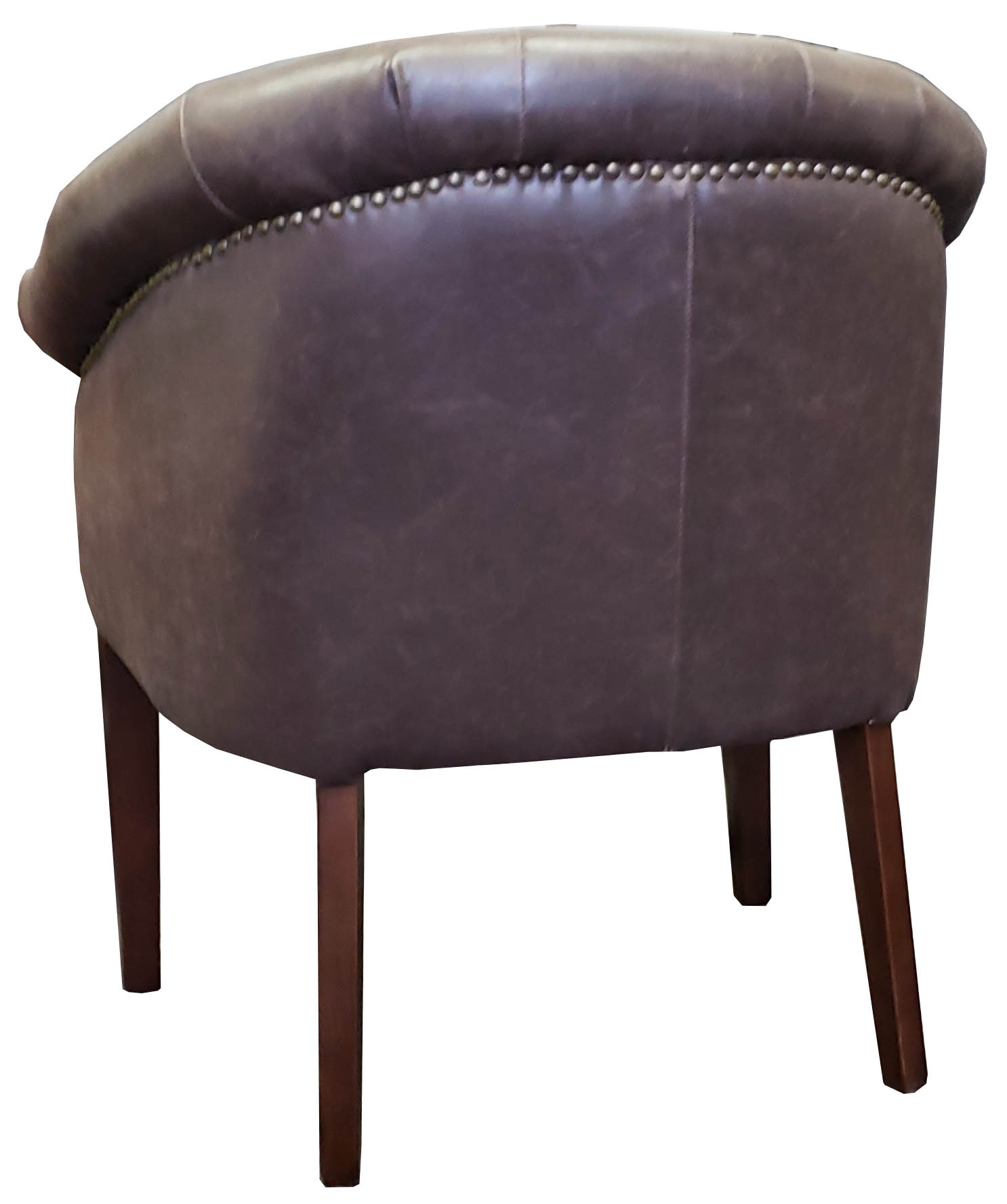 R 03470 Antique Leather Tub Chair