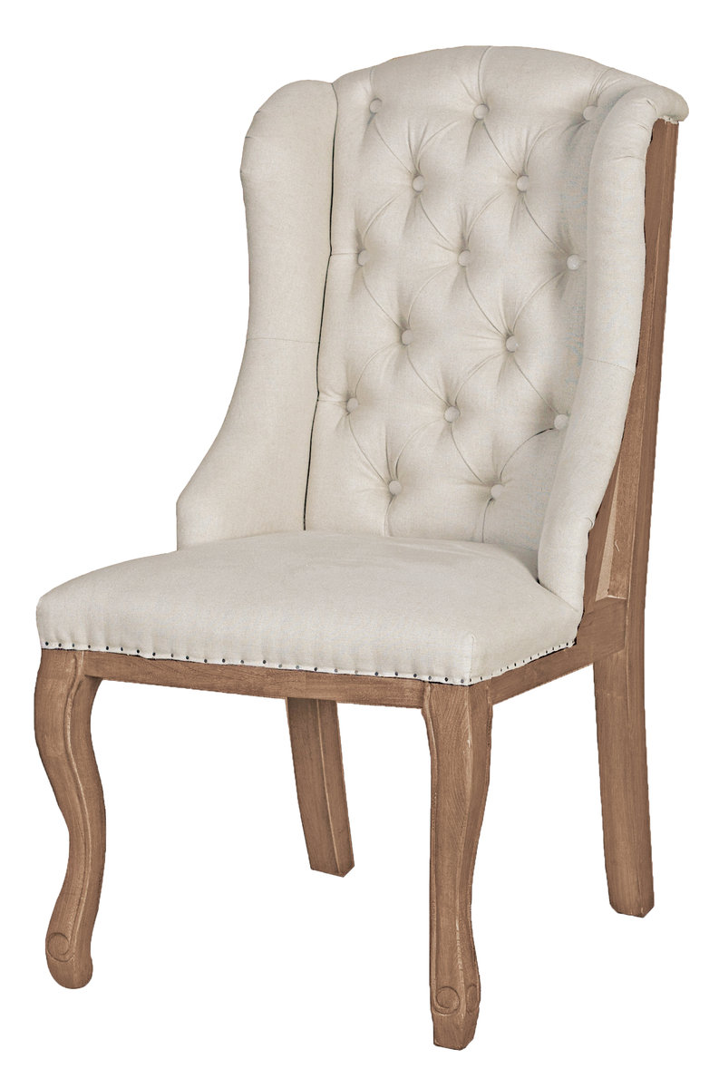 ... High Back Tufted Dining Chair With Wings. 221 Of 304. Save Discount 29%