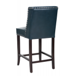 Wing Back Bar/Counter Stool  w/ Silver Nail head SR-100531- Blue