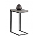 SR-102166 C-Shaped End Table w/ Concrete top
