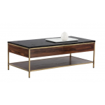 SR-102213 Coffee Table w/ Black Marble Top