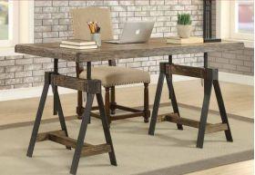 KR-91756 Distressed Brown Adjustable Desk/Dining Table
