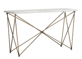 SR-102385 Modern Console Table w/ Marble Top
