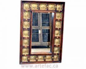 ART-008 Brass Fitted Mirror