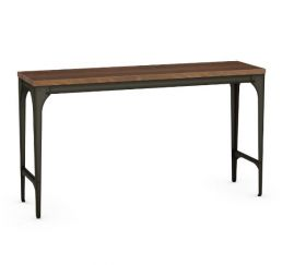 AC-50165 ToastyWooden Console Table with Harley Metal Finish