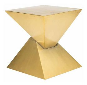 RN-246 Gold Brushed Side Table