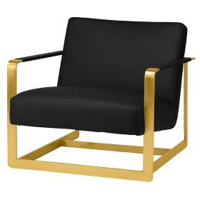 RE-HGSC180 Lounge Chair With Gun Metal Frame