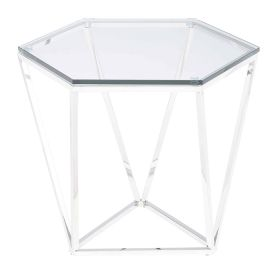 RN-467 Hexagon Stainless Steel Side Table
