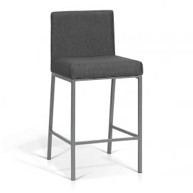 KR-160904C Grey Powdered Steel Counter Stool  (Set of 2)