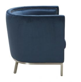 SR-100939 Fabric TubChair w/ Nailhead Trim