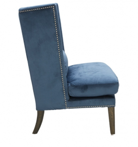 High Back Accent Wing Chair SR-101234- Ink Blue