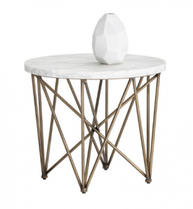 SR-102386 Modern Side Table w/ Marble Top