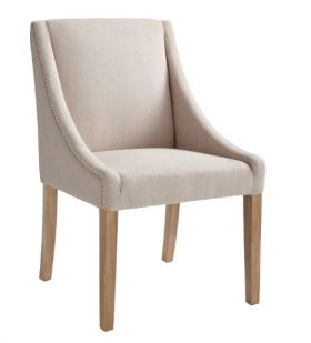 Contoured Arms Fabric Dining Chair SR-72286