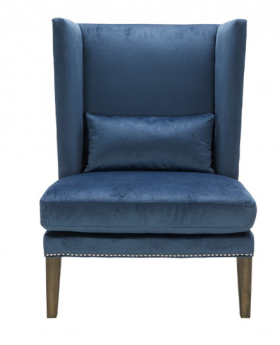 High Back Accent Wing Chair SR-101234 - Ink Blue