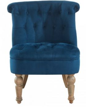 RW-403-256 Blue Velvet Accent Chair