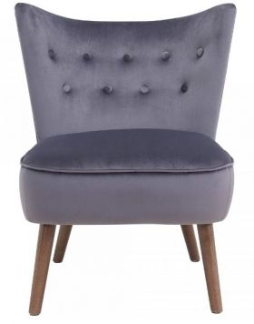 RW-403-340 Modern Wing Back Button Tufted Accent Chair