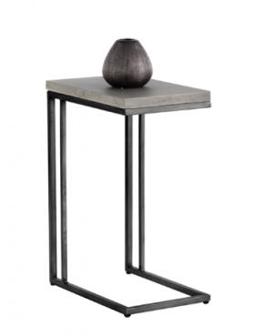 SR-102166 C-Shaped End Table w/ Concrete top