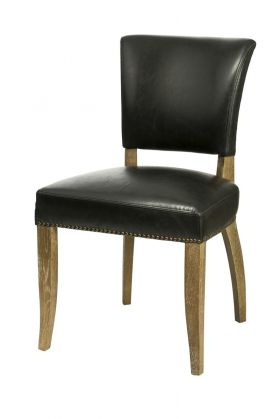 SL-002 Black Bicast Leather Dining Chair