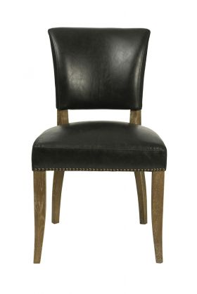 TW002-BL Black Bicast Leather Dining Chair
