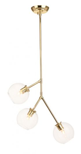 RN-506 3-Bulb Pendant In Polished Gold