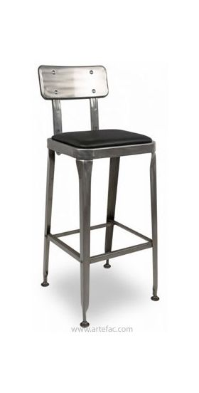 Fantastic Industrial Bar Stool With Leather Seat Ibusinesslaw Wood Chair Design Ideas Ibusinesslaworg